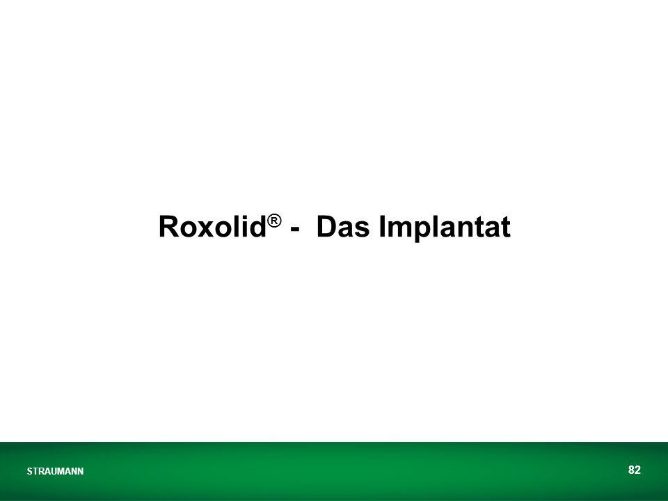 STRAUMANN 82 Roxolid ® - Das Implantat