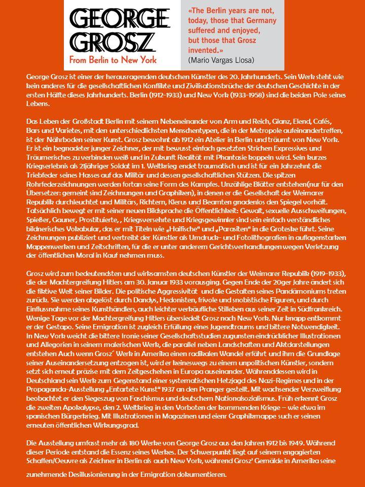 George Grosz ist einer der herausragenden deutschen Künstler des 20.