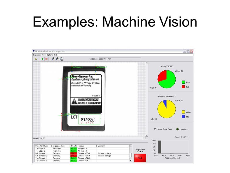 Examples: Machine Vision