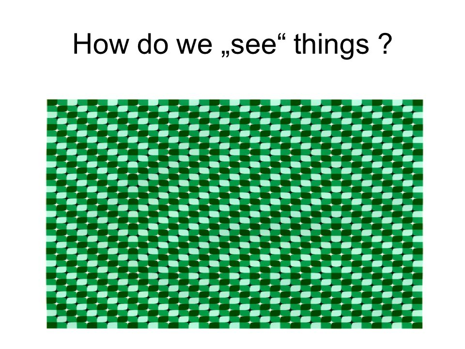 How do we see things