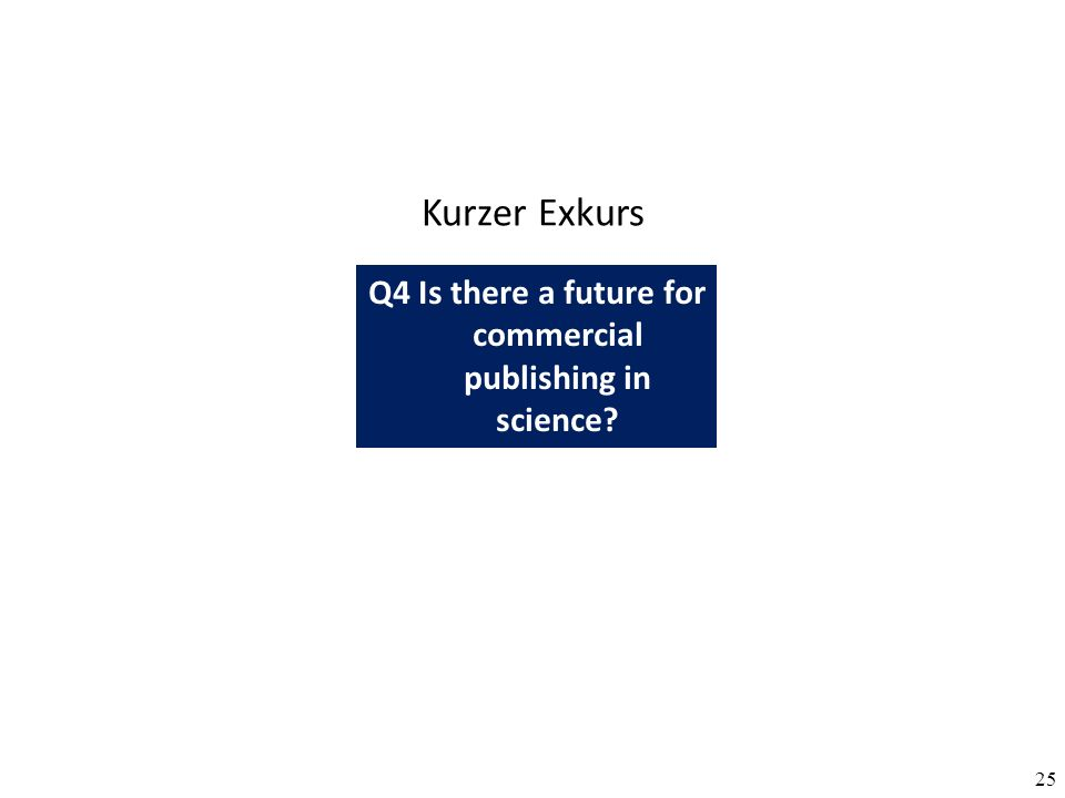25 Q4 Is there a future for commercial publishing in science? Kurzer Exkurs