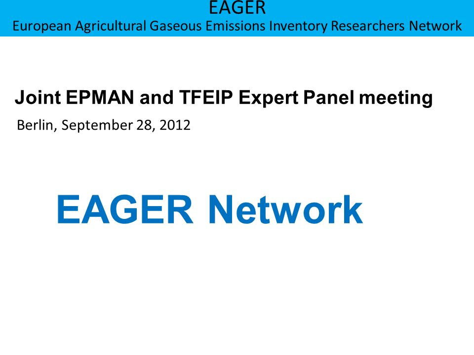 Berner Fachhochschule Hochschule für Agrar-, Forst- und Lebensmittelwissenschaften HAFL EAGER European Agricultural Gaseous Emissions Inventory Researchers Network Results solid manure scenarios (Beef cattle) 12 FFFN NN Much larger variability than for slurry scenarios Limited data available; big gaps and uncertainties in knowledge for important processes influencing the ammonia losses Immobilization and mineralization processes more important Larger differences in production systems between the different countries