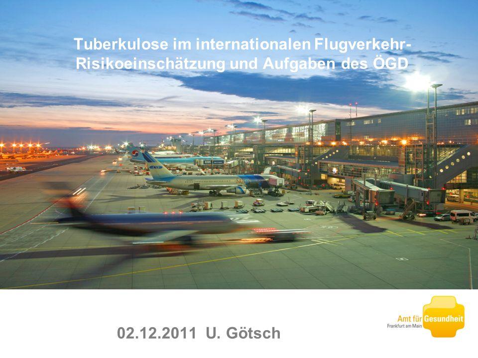 02.12.2011 U. Götsch Tuberkulose im internationalen Flugverkehr- Risikoeinschätzung und Aufgaben des ÖGD