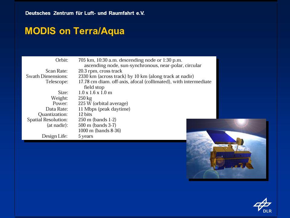 Deutsches Zentrum für Luft- und Raumfahrt e.V. MODIS on Terra/Aqua