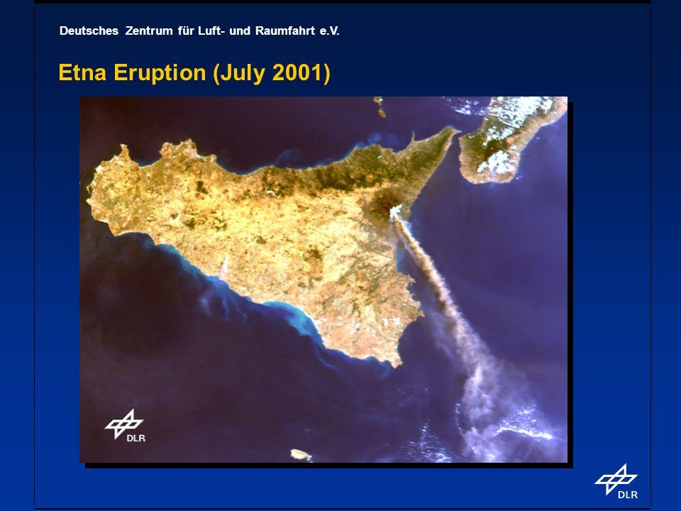 Deutsches Zentrum für Luft- und Raumfahrt e.V. Etna Eruption (July 2001)