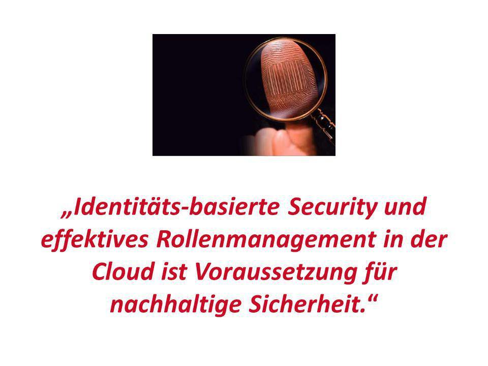Identitäts-basierte Security und effektives Rollenmanagement in der Cloud ist Voraussetzung für nachhaltige Sicherheit.