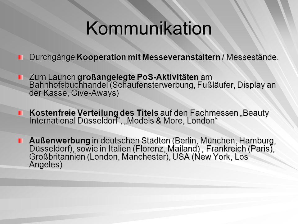 Kommunikation Durchgänge Kooperation mit Messeveranstaltern / Messestände.