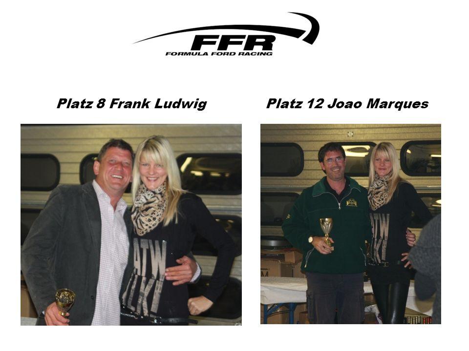 Platz 8 Frank Ludwig Platz 12 Joao Marques