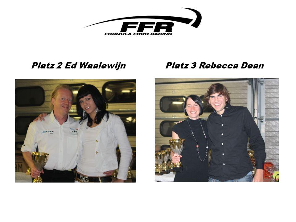 Platz 2 Ed Waalewijn Platz 3 Rebecca Dean