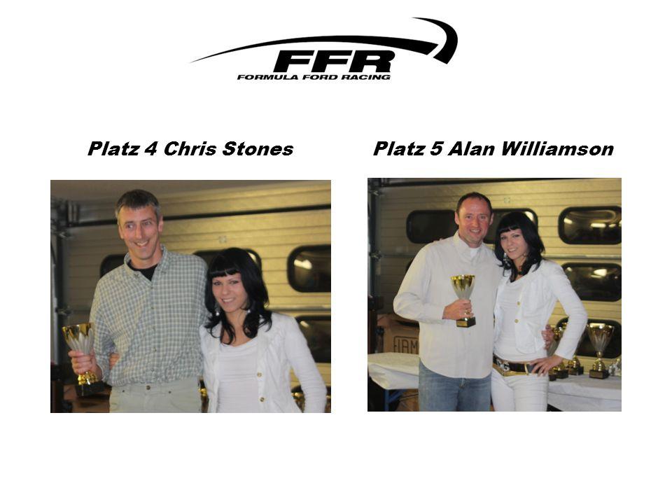 Platz 4 Chris Stones Platz 5 Alan Williamson