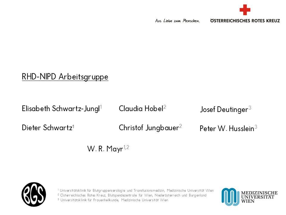 Blutspendezentrale für Wien, Niederösterreich und Burgenland Elisabeth Schwartz-Jungl 1 Dieter Schwartz 1 Claudia Hobel 2 Christof Jungbauer 2 W. R. M