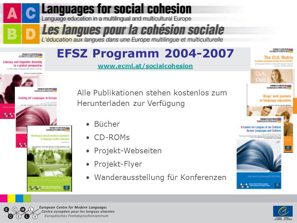 Alle Publikationen stehen kostenlos zum Herunterladen zur Verfügung Bücher CD-ROMs Projekt-Webseiten Projekt-Flyer Wanderausstellung für Konferenzen E