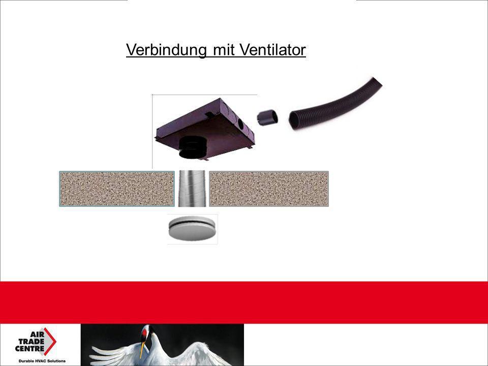 Verbindung mit Ventilator