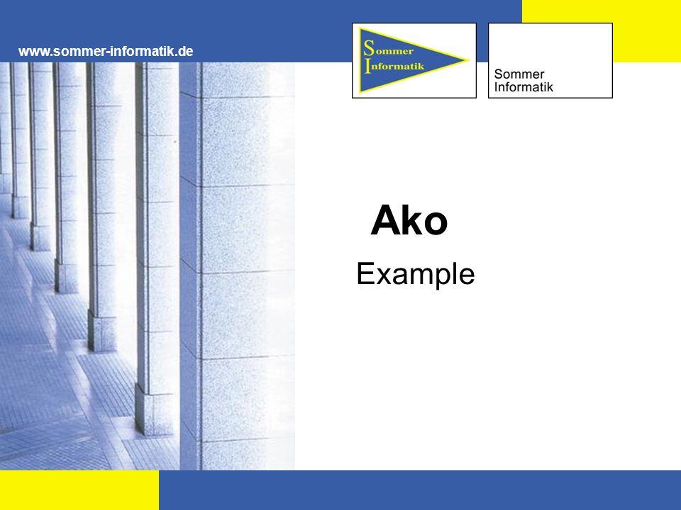 www.sommer-informatik.de Ako Example
