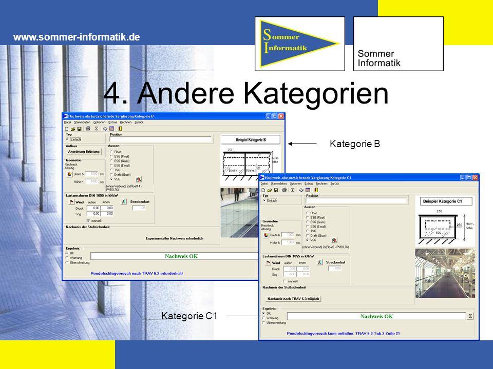 www.sommer-informatik.de 4. Andere Kategorien Kategorie B Kategorie C1