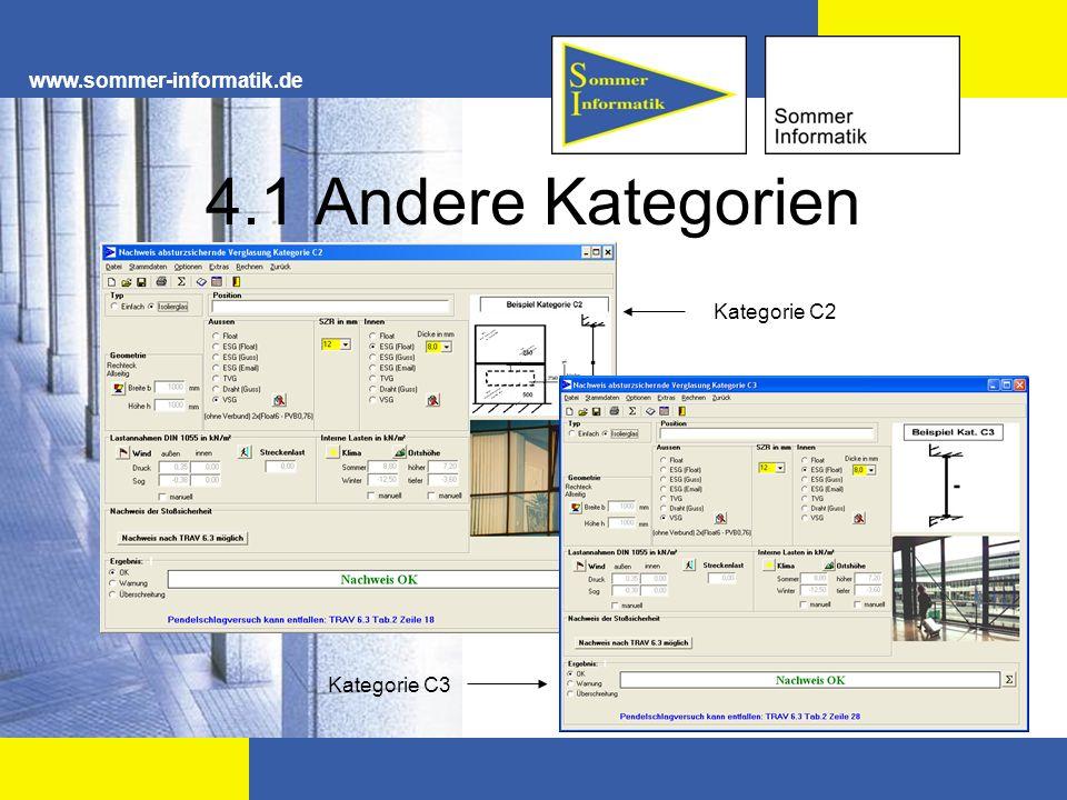 www.sommer-informatik.de 4.1 Andere Kategorien Kategorie C2 Kategorie C3