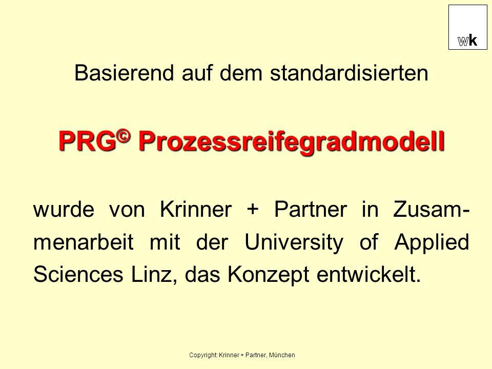 Basierend auf dem standardisierten PRG © Prozessreifegradmodell wurde von Krinner + Partner in Zusam- menarbeit mit der University of Applied Sciences