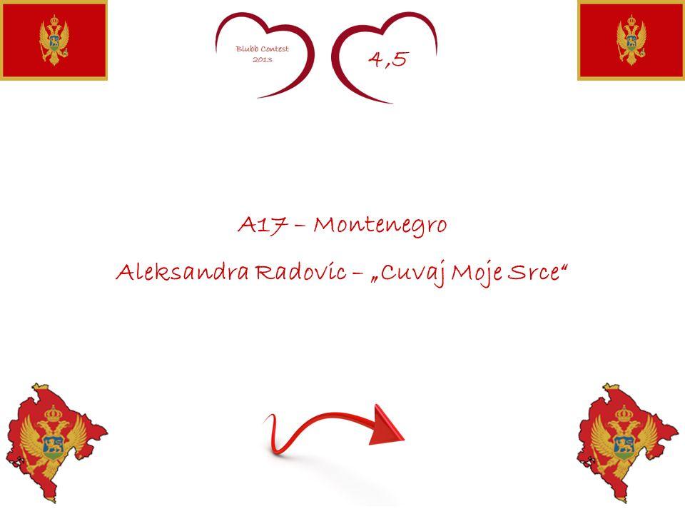 4,5 A17 – Montenegro Aleksandra Radovic – Cuvaj Moje Srce
