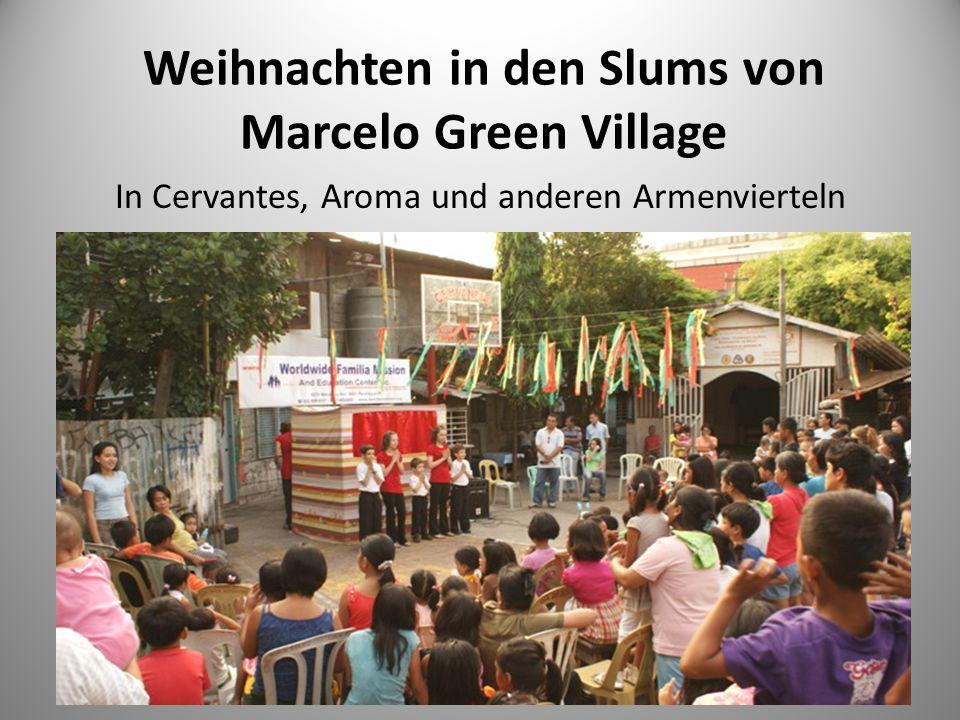 Weihnachten in den Slums von Marcelo Green Village In Cervantes, Aroma und anderen Armenvierteln