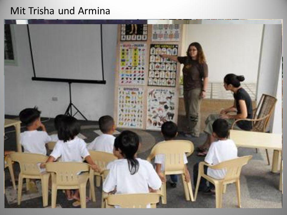 Mit Trisha und Armina