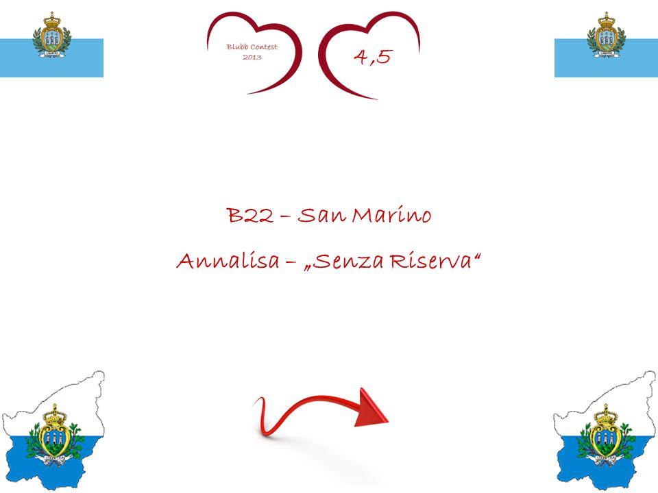 4,5 B22 – San Marino Annalisa – Senza Riserva