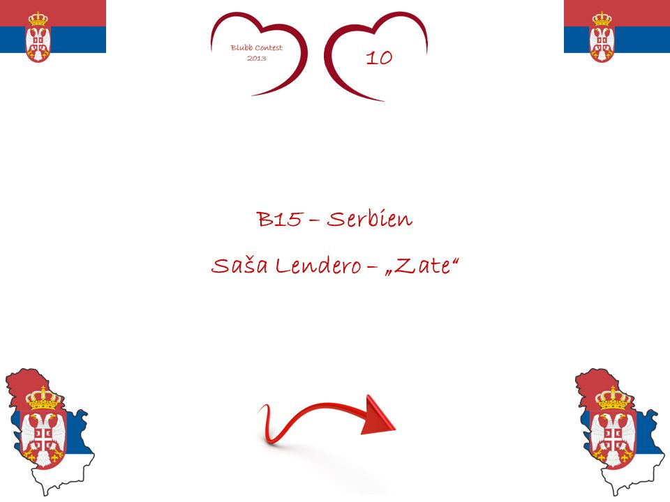 10 B15 – Serbien Saša Lendero – Zate