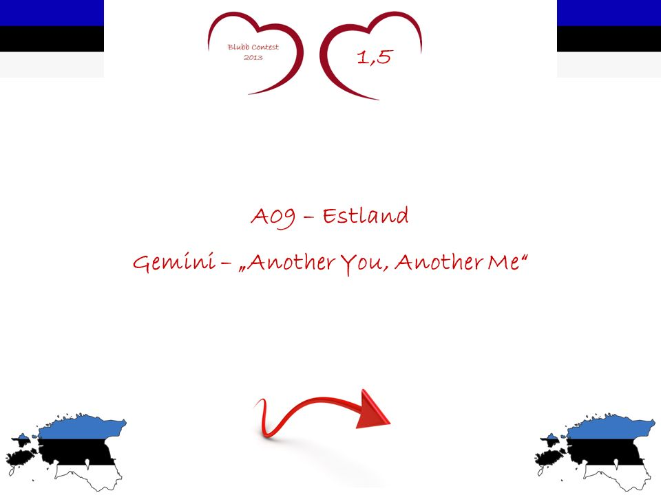1,5 A09 – Estland Gemini – Another You, Another Me