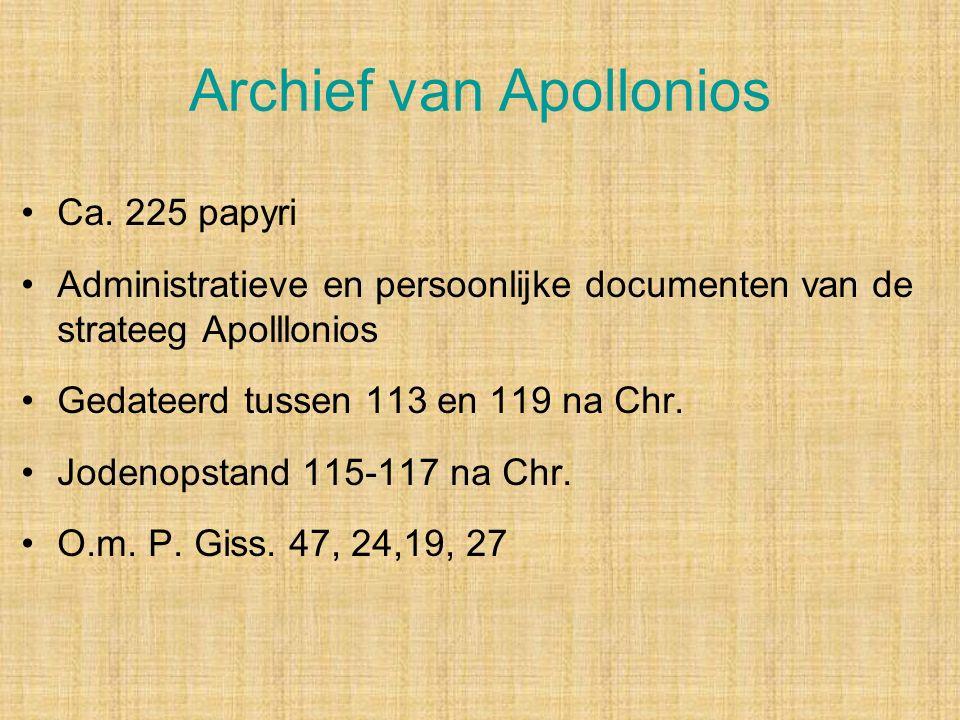 Archief van Apollonios Ca.