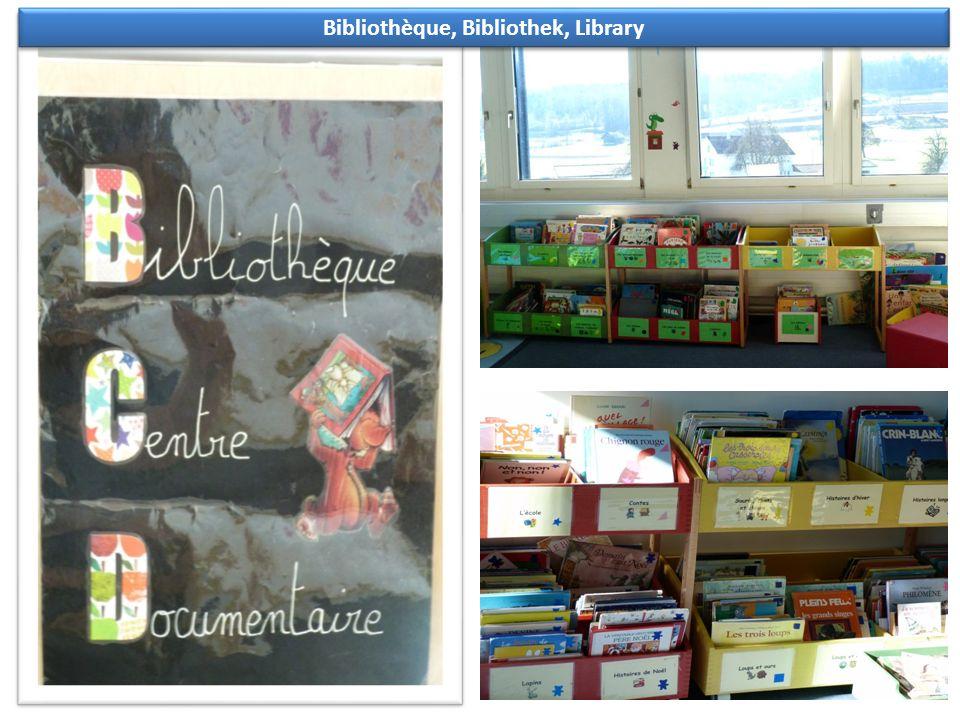 Bibliothèque, Bibliothek, Library