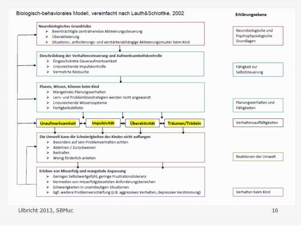 Ulbricht 2013, SBMuc16 Biologisch-behaviorales Modell vereinfacht nach Lauth & Schlottke, 2002