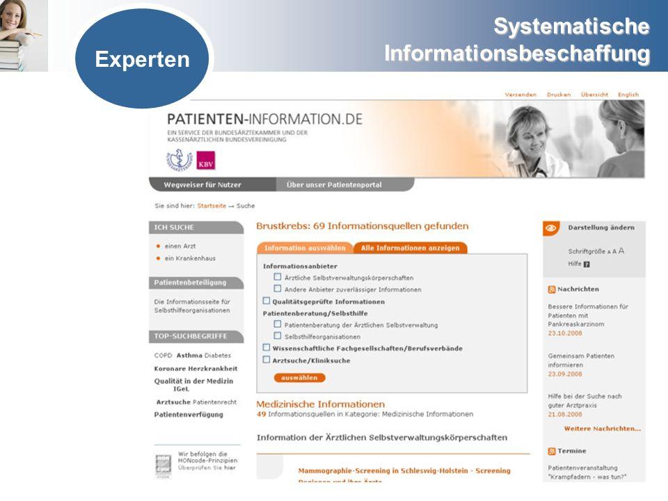 Systematische Informationsbeschaffung Experten