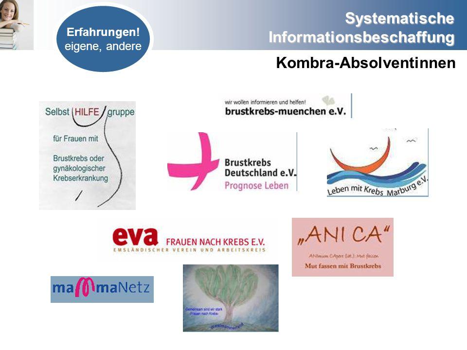 Systematische Informationsbeschaffung Externe Evidenz (Externes Wissen) Newsletter abonnieren