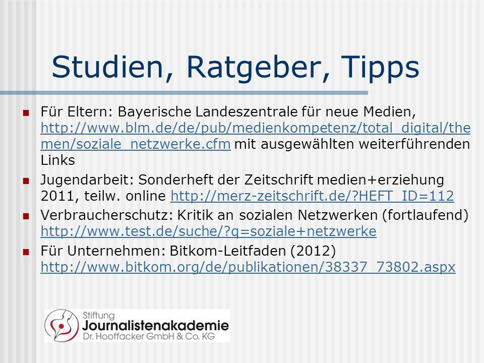 Studien, Ratgeber, Tipps Für Eltern: Bayerische Landeszentrale für neue Medien, http://www.blm.de/de/pub/medienkompetenz/total_digital/the men/soziale