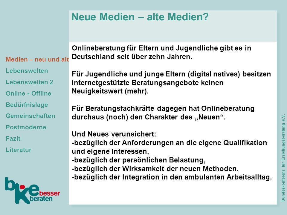 Onlineberatung für Eltern und Jugendliche gibt es in Deutschland seit über zehn Jahren. Für Jugendliche und junge Eltern (digital natives) besitzen in