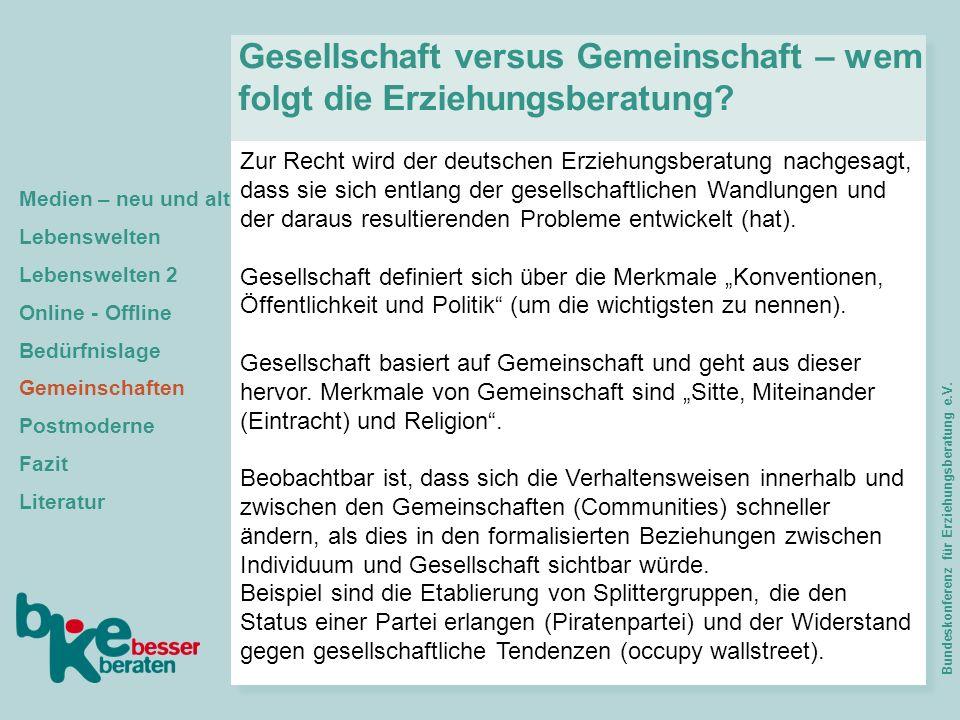 Zur Recht wird der deutschen Erziehungsberatung nachgesagt, dass sie sich entlang der gesellschaftlichen Wandlungen und der daraus resultierenden Prob