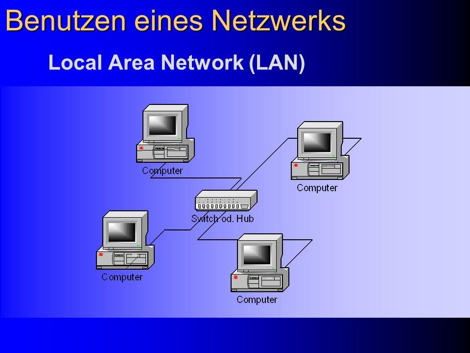 Benutzen eines Netzwerks 1.