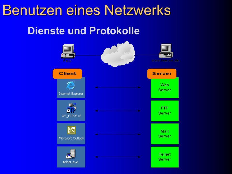 Benutzen eines Netzwerks Dienste und Protokolle