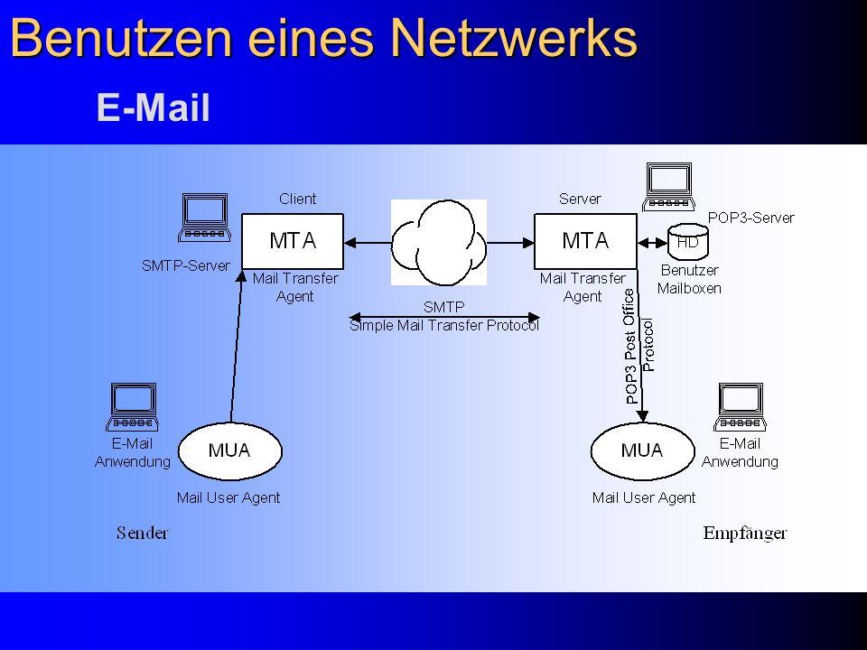Benutzen eines Netzwerks E-Mail