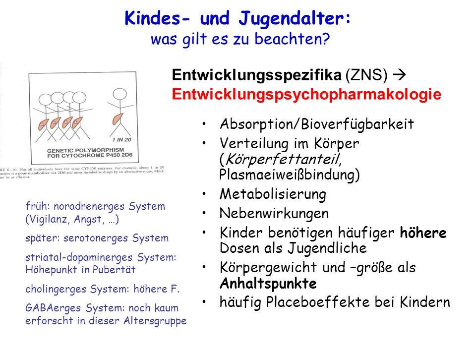 Kindes- und Jugendalter: was gilt es zu beachten.