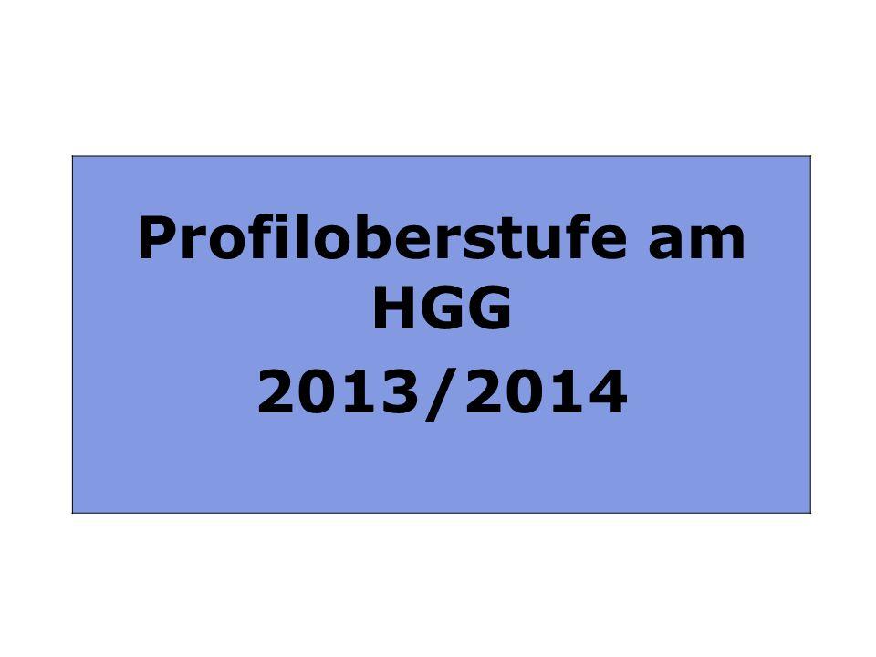 Profiloberstufe am HGG 2013 / 2014 Profiloberstufe am HGG 2013/2014