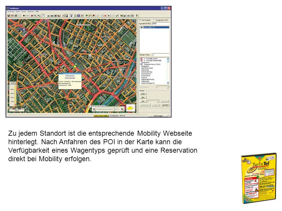 Zu jedem Standort ist die entsprechende Mobility Webseite hinterlegt.