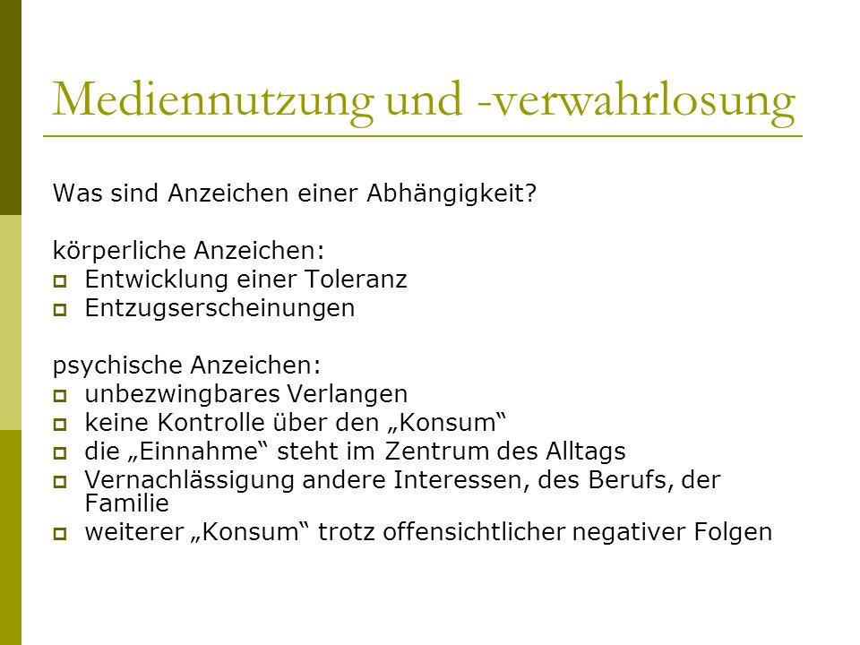 Mediennutzung und -verwahrlosung 2.