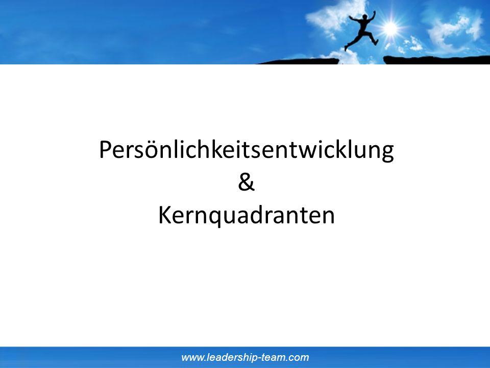 www.leadership-team.com Persönlichkeitsentwicklung & Kernquadranten