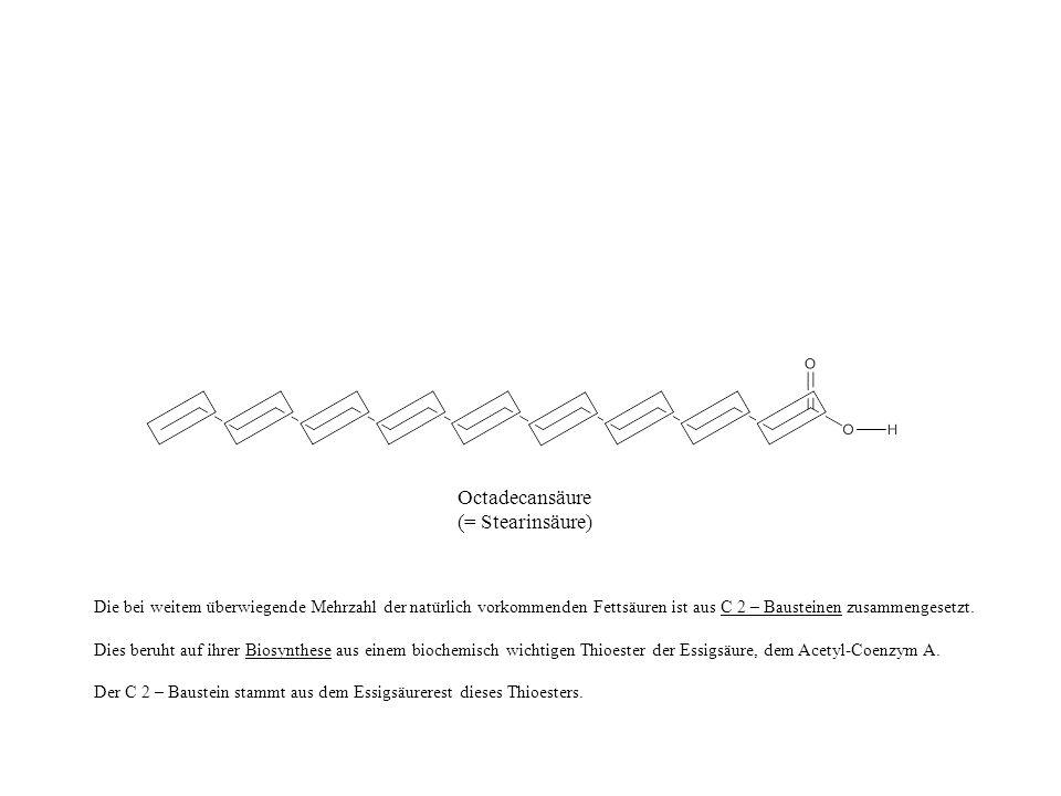 Claisen-Kondensation Der Biosyntheseweg hin zum Aufbau einer Fettsäure ist jedoch noch nicht abgeschlossen.