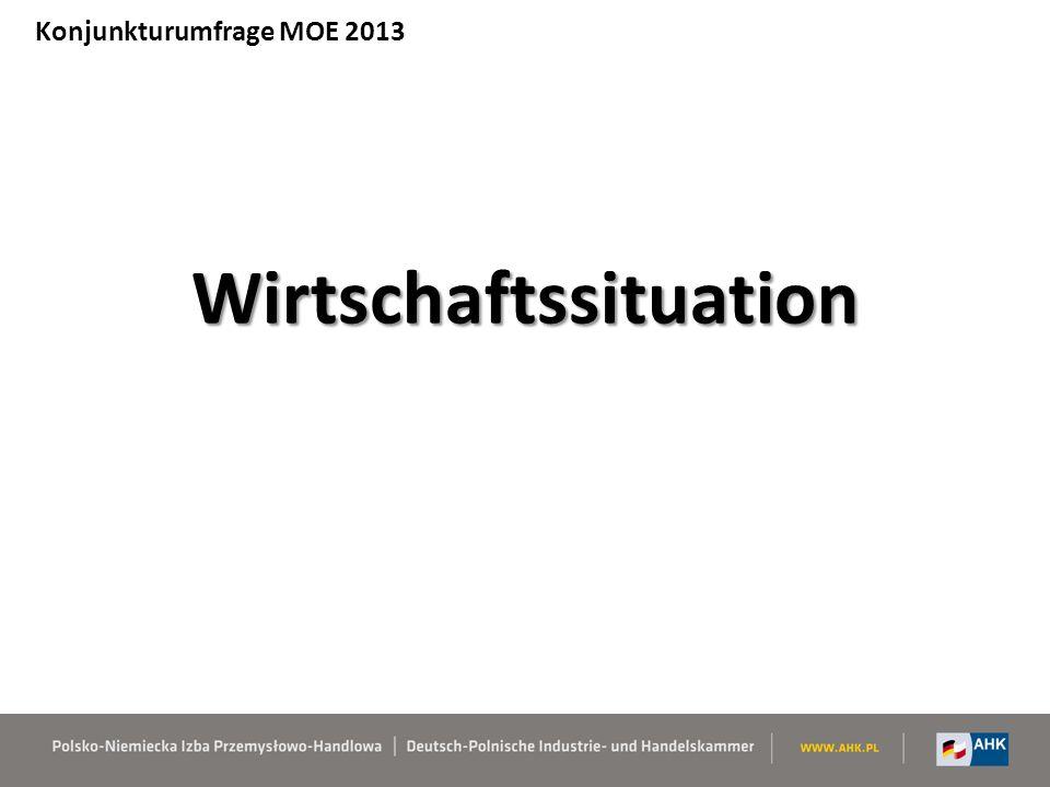 Struktur der Befragten – Land und Anzahl der Firmen Konjunkturumfrage MOE 2013 MOE insgesamt: 1623 Unternehmen