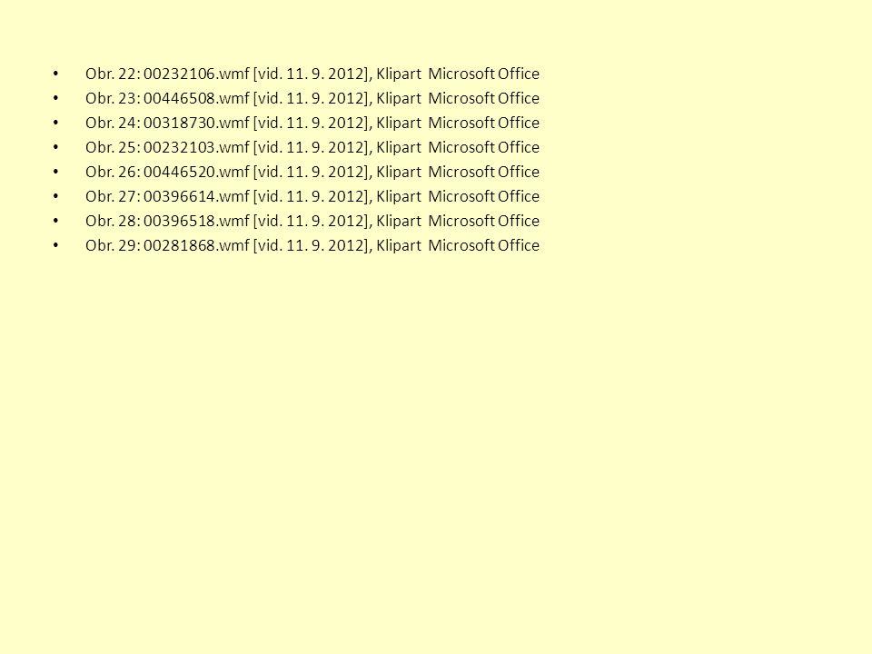 Obr.22: 00232106.wmf [vid. 11. 9. 2012], Klipart Microsoft Office Obr.