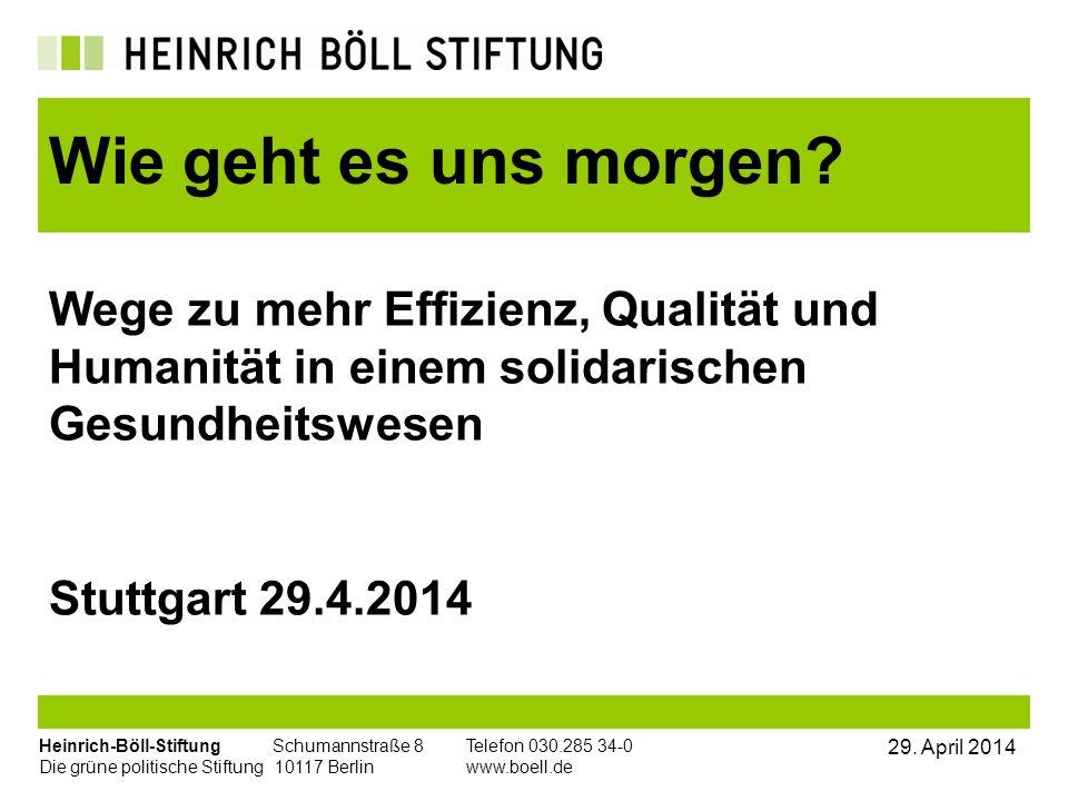 Heinrich-Böll-Stiftung Schumannstraße 8Telefon 030.285 34-0 Die grüne politische Stiftung 10117 Berlin www.boell.de 29. April 2014 Wege zu mehr Effizi
