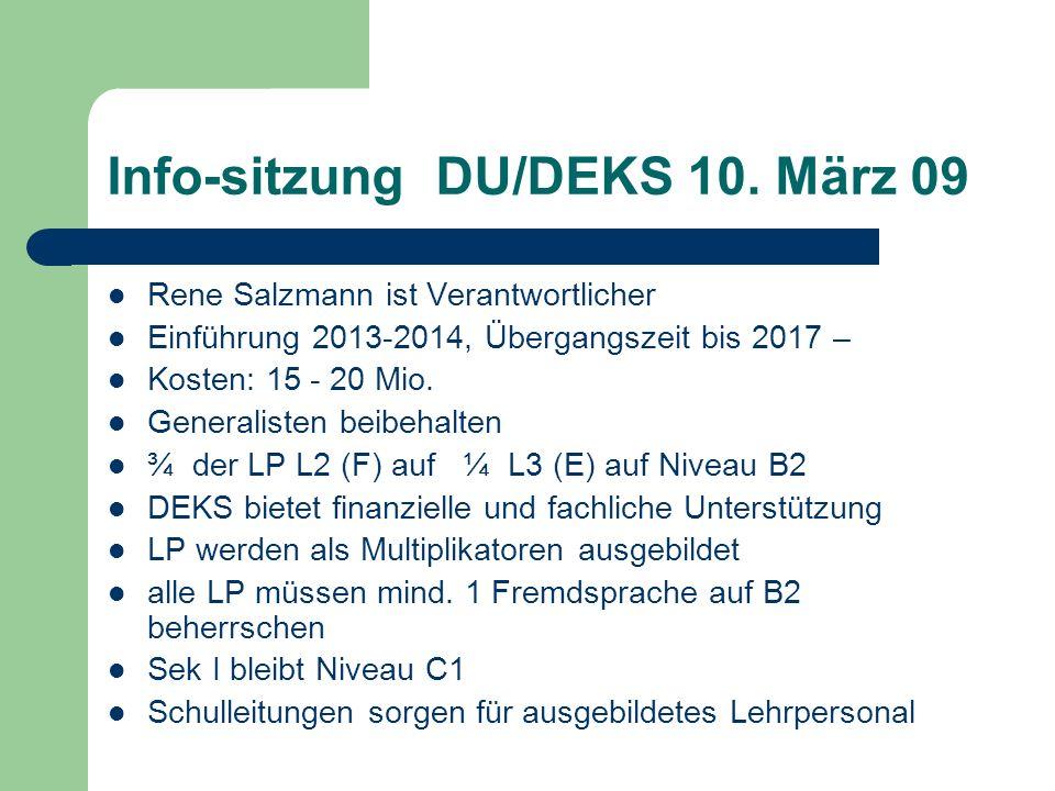 Info-sitzung DU/DEKS 10.