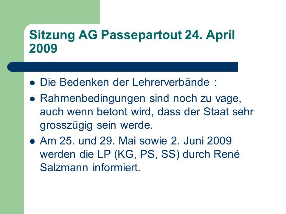 Sitzung AG Passepartout 24.