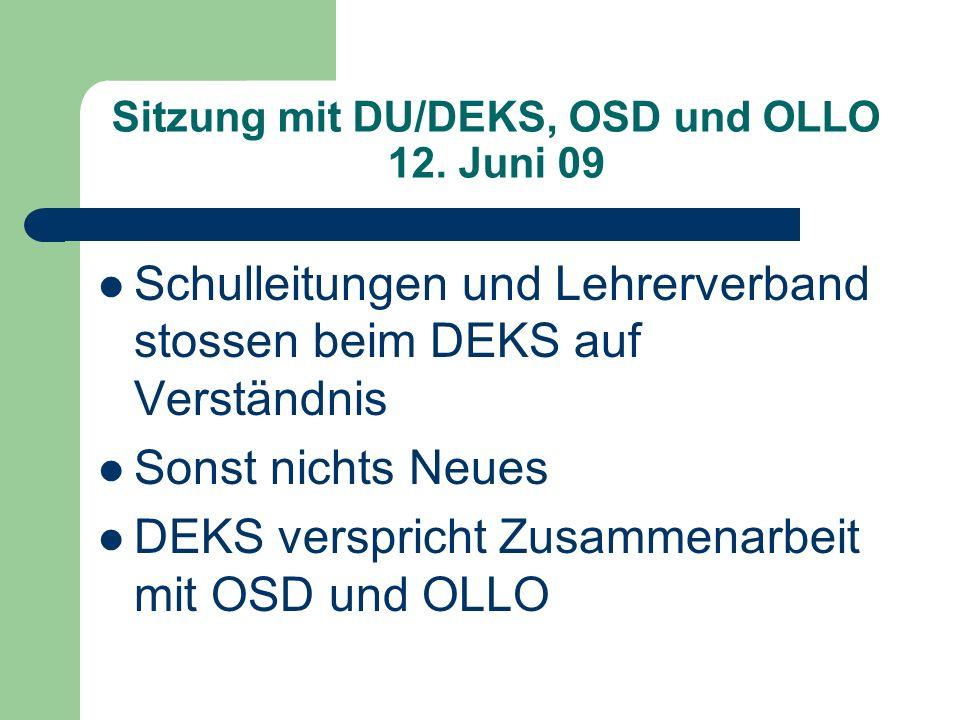 Sitzung mit DU/DEKS, OSD und OLLO 12.